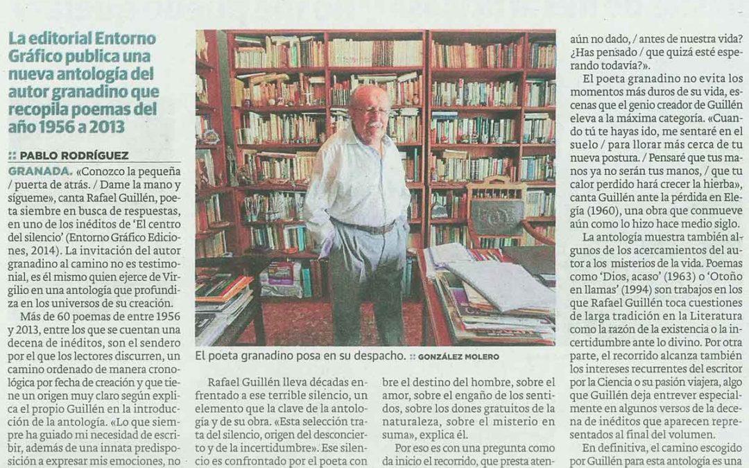 """Reseña del libro """"El centro del silencio"""", de Rafael Guillén"""