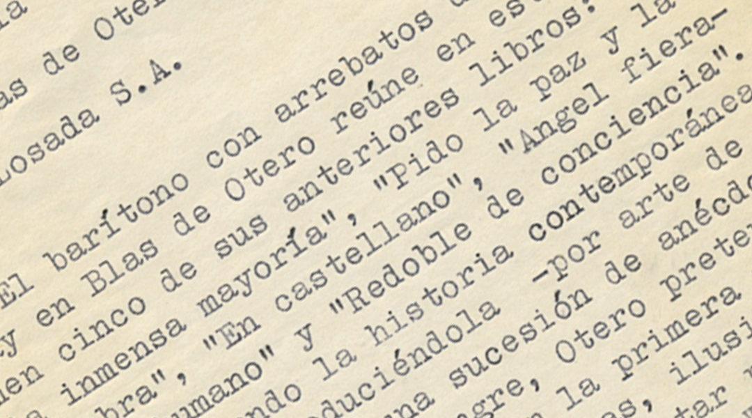 La censura, contra Blas de Otero: 'Su lepra mental, su odio hacia la belleza…'