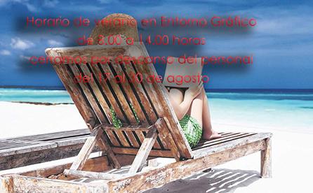 Verano 2020: Horario especial y vacaciones